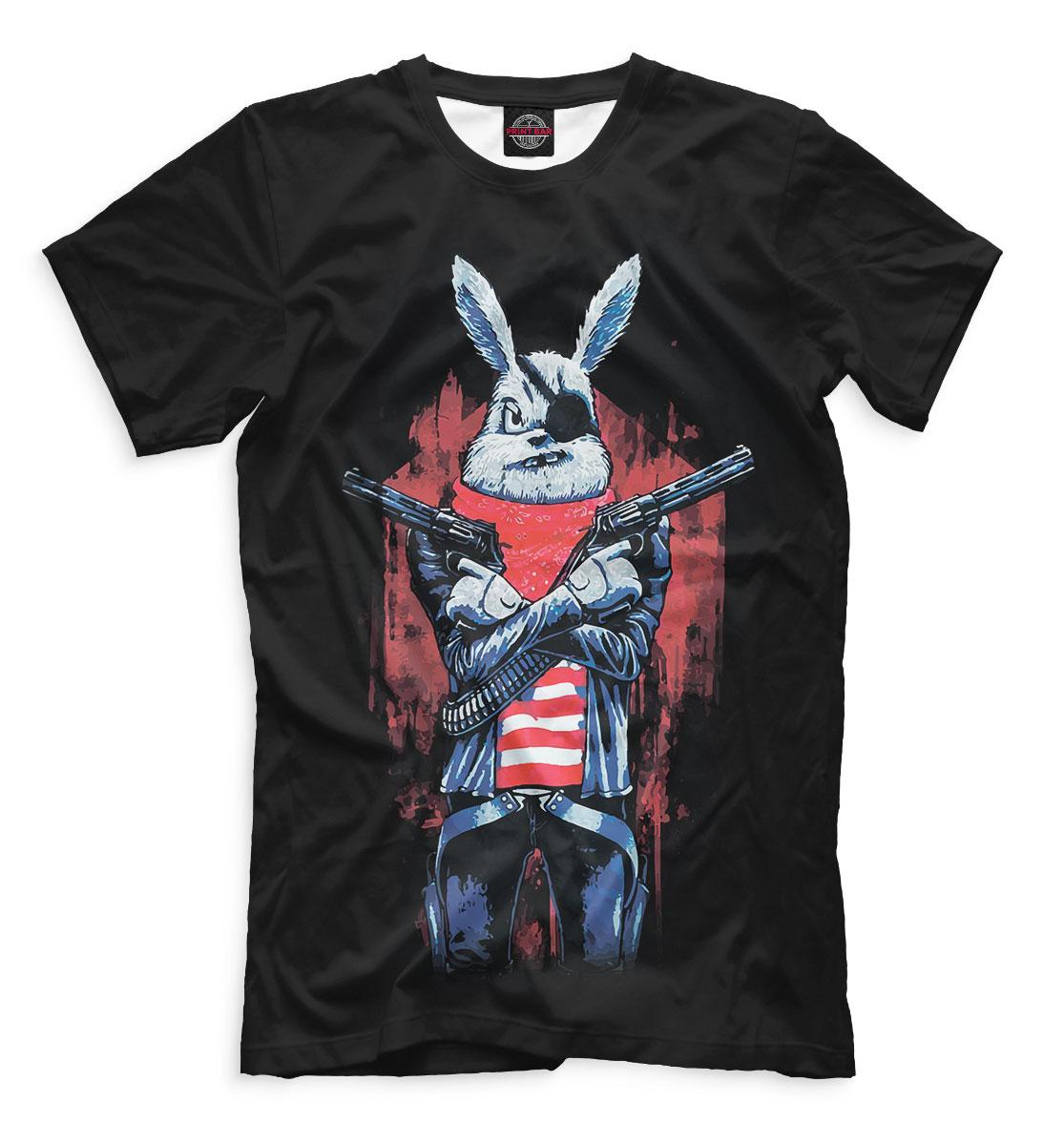 Футболка Кролик с пистолетом