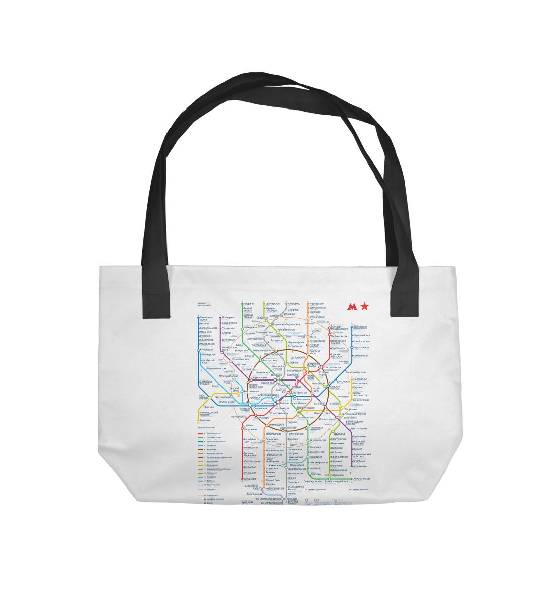 Пляжная сумка Метро Москвы