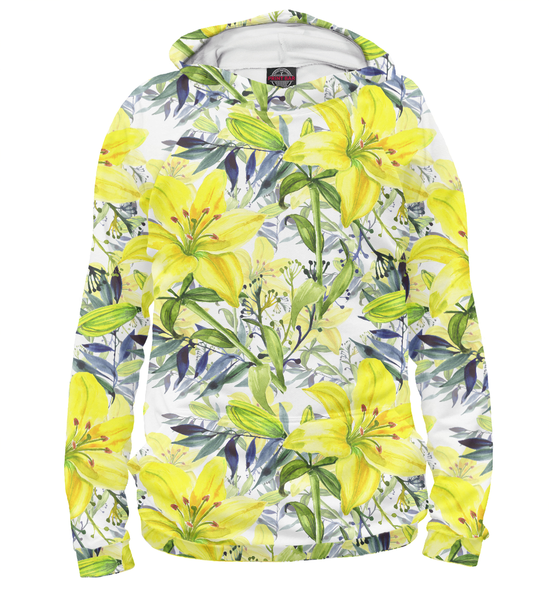 Худи Жёлтые лилии