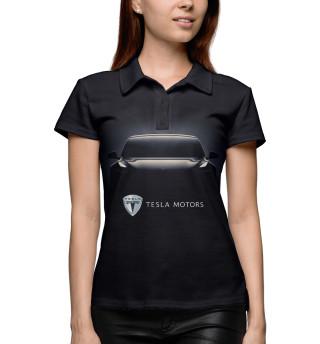 Поло женское Tesla Model 3