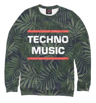 Одежда с принтом Techno music