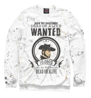 Одежда с принтом Wanted