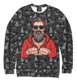 Одежда с принтом Hipster Santa (902781)