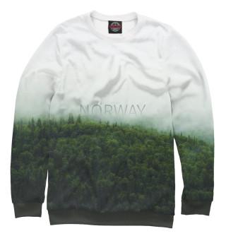 Одежда с принтом Норвегия