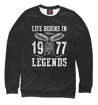 Одежда с принтом 1977 - рождение легенды (890686)