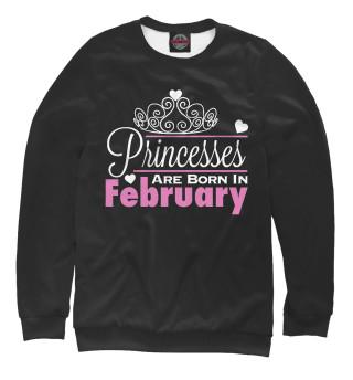 Одежда с принтом Принцессы рождаются в феврале