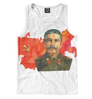 Майка борцовка мужская Сталин (7989)