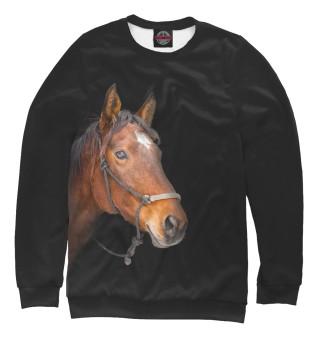 Одежда с принтом Одинокая лошадь