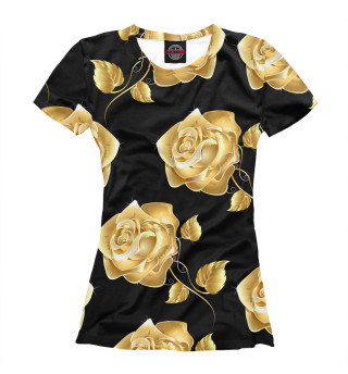 Футболка женская Золотые розы