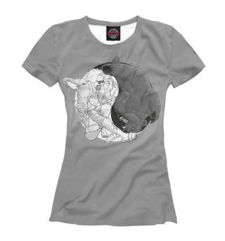 Футболка женская Lebowski and a Bear