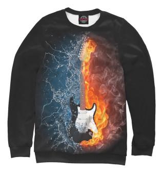Одежда с принтом Гитара в огне и воде
