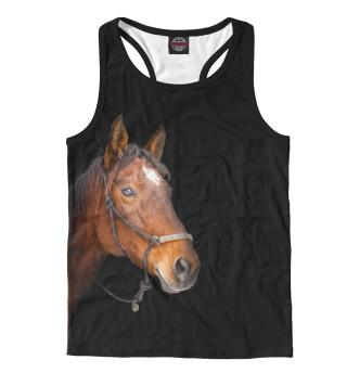 Майка борцовка мужская Одинокая лошадь