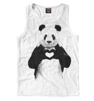Майка борцовка мужская Панда (6559)
