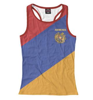 Майка борцовка женская Герб на флаге Армении