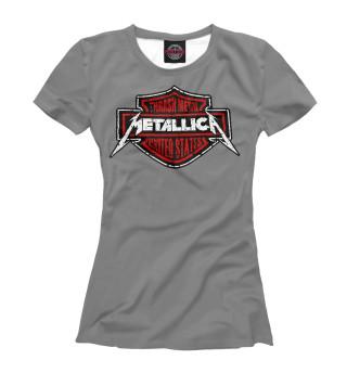 Футболка женская Metallica thrash metal band