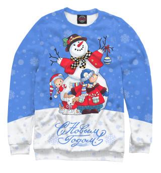 Одежда с принтом Снеговик с друзьями