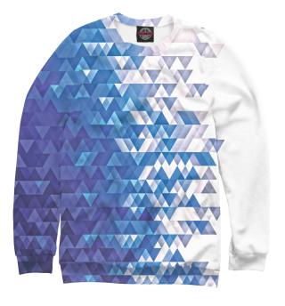 Одежда с принтом Polygonal Blue