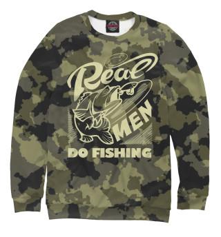 Одежда с принтом Real men do fishing