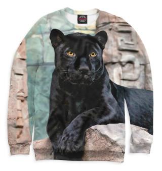 Одежда с принтом Пантера на скалах
