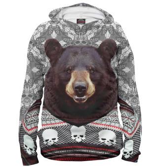 Худи женское Медведь в свитере