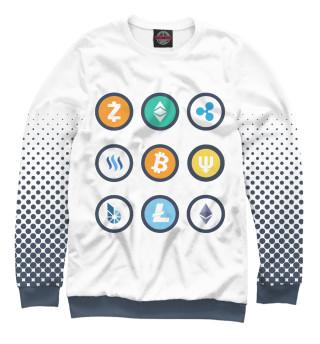 Одежда с принтом Криптовалюты (705458)
