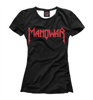 Футболка женская Manowar (4080)