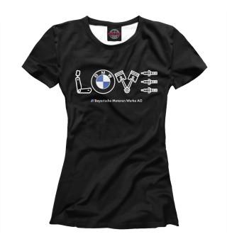 Футболка женская Love BMW