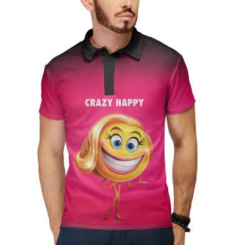 Поло мужское Crazy Happy