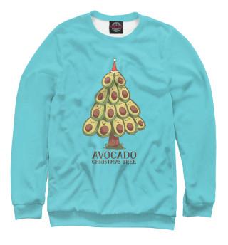 Одежда с принтом Авокадо новогодняя ёлка