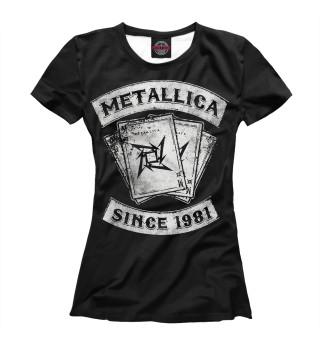 Футболка женская Metallica (4684)