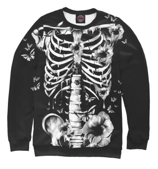 Одежда с принтом Floral Skeleton