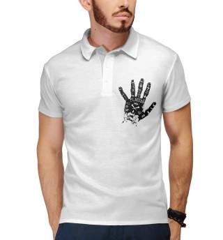 Поло мужское Placebo hand black