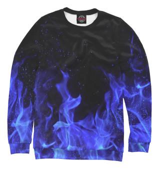 Одежда с принтом Синий огонь
