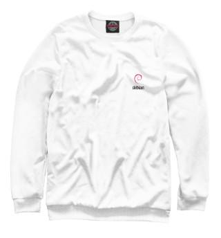 Одежда с принтом Debian White