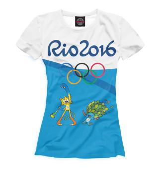 Футболка женская Олимпиада Рио-2016 (6189)