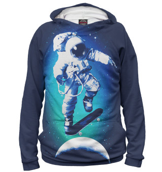 Худи женское Космонавт-скейтер