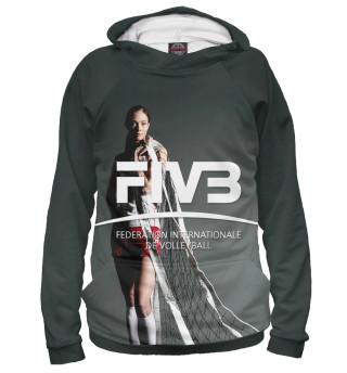 Худи мужское FIVB, Federation Internationale de Volleibal