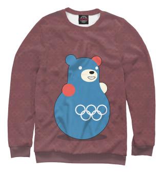 Одежда с принтом Медведь-неваляшка