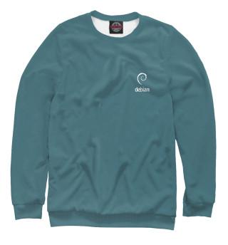 Одежда с принтом Debian Blue