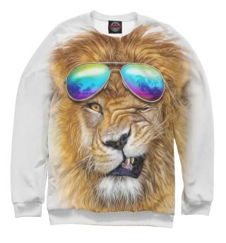 Одежда с принтом Лев в очках