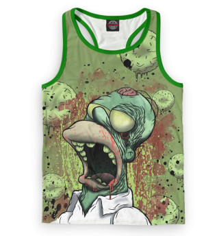 Майка борцовка мужская Гомер-зомби