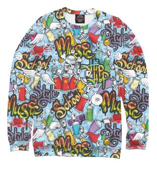 Одежда с принтом Хип- хоп граффити