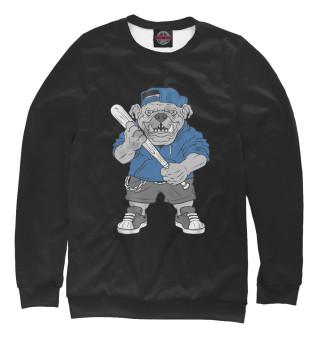 Одежда с принтом Свирепый питбуль бейсболист