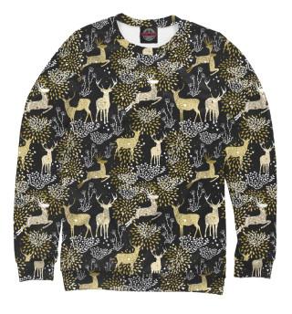 Одежда с принтом Рождественские олени