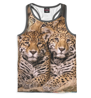 Майка борцовка мужская Леопард (9235)
