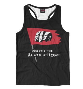 Майка борцовка мужская Where's the Revolution (428)