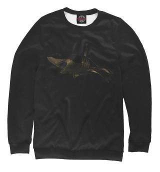 Одежда с принтом Golden shark