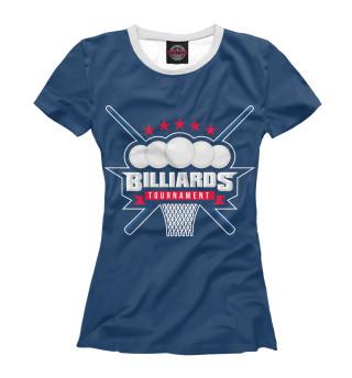 Футболка женская Бильярд (2765)