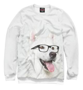Одежда с принтом Хаски в очках