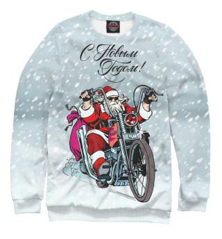Одежда с принтом Санта байкер